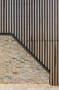 Oak cladding - White American Oak and Anthra VM Zinc - Wood Cladding Exterior, Cladding Design, Brick Cladding, House Cladding, Wood Facade, Zinc Cladding, Timber Architecture, Timber Buildings, Residential Architecture