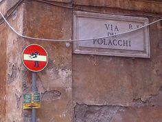 Clet Abraham via dei Polacchi Roma