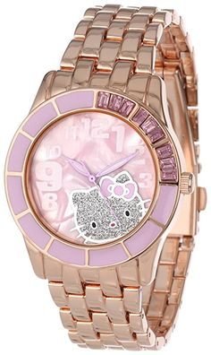 Hello Kitty Women& Enamel Bezel Metal Bracelet Faux Mother-Of-Pearl Dial Watch Hello Kitty Bedroom, Hello Kitty House, Pink Hello Kitty, Hello Kitty Items, Hello Hello, Kitty Kitty, Hello Kitty Merchandise, Barbie Camper, Hello Kitty Jewelry