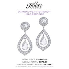 Rent fine jewelry for any special occasion or formal event. Rent designer jewelry and Rent jewelry online. Accessorize in style today! Fine Bridal Jewelry, Wedding Jewelry, Fine Jewelry, Jewellery Display, Wedding Accessories, Diamond Earrings, Jewelry Design, Bling, Halo Diamond