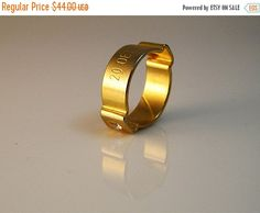 ON SALE Industrial men ring men jewelry  Pipe Ring by NitzanTovi