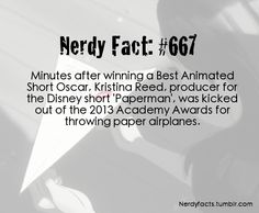 Nerdy Fact 667...but they were paper airplanes!!!