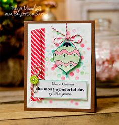 Unity Stamps Oct/Nov Challenge, Trendy Twine, Christmas Card