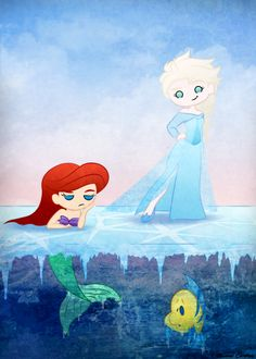 Frozen Mermaid by mell0w-m1nded.deviantart.com on @deviantART