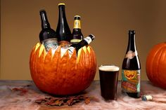 Gourd Lovin': Pumpkin Beers, LOVE this to display beers for the fall