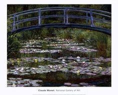 The Japanese Footbridge, 1899 by Claude Monet art print