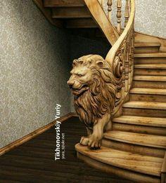 New Wooden Stairs Railing Stairways 18 Ideas Wood Carving Art, Wood Art, Wood Carving Designs, Art Sculpture En Bois, Deco Originale, Got Wood, Stairway To Heaven, Staircase Design, Railing Design