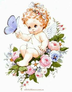 Angel Images, Angel Pictures, Artwork Images, Precious Children, Angel Art, Fairy Art, Baby Prints, Cute Illustration, Christmas Angels