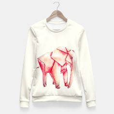 Pink elephant Fitted Waist Sweater by katalena 49.95€