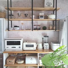 真似してみたくなる!見ているだけで癒されるキッチン棚をご紹介♡ | folk Kitchen Shelves, Kitchen Reno, Kitchen Storage, Kitchen Design, Dining Cabinet, Coffee Bar Home, Apartment Design, Kitchen Organization, Room Inspiration