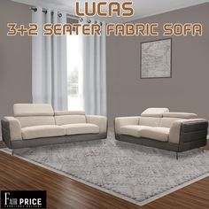 Lucas is the only simplest yet elegant sofa you will find ever! It is so jam-packed with features with such a reasonable price tag. This sofa set is crafted with linen fabric and equipped with high-density foam to provide you the comfort you desire. The headrest are adjustable too so you can relax however you want to.