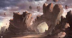 No Gravity Desert, Felipe Fornitani on ArtStation at http://www.artstation.com/artwork/no-gravity-desert