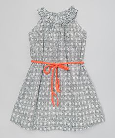 Look at this Black & White Polka Dot Ruffle Belt Dress - Toddler & Girls on #zulily today!