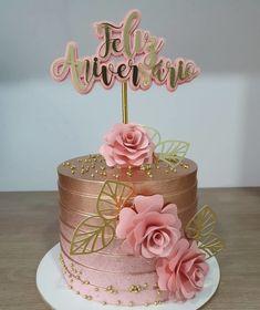 Elegant Birthday Cakes, Beautiful Birthday Cakes, Beautiful Cakes, Cake Birthday, Foto Baby, Gold Cake, Birthday Cake Decorating, Drip Cakes, Pretty Cakes