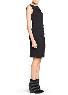 MANGO - CLOTHING - Dresses - Shoulder detail structured dress