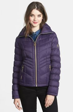 MICHAEL Michael Kors Packable Short Ruched Down Jacket (Regular & Petite) available at #Nordstrom
