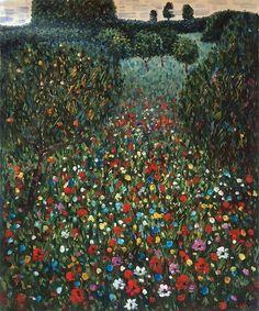 © Gustav Klimt - Field of poppies (1907)