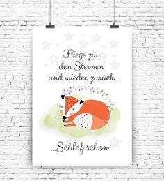 """""""Schlaf schön"""" Kunstdruck  von MilaLu auf DaWanda.com"""