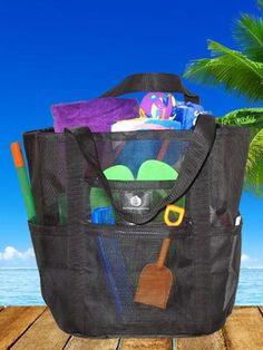 Mesh Whale Bag® with Waterproof Base * Black