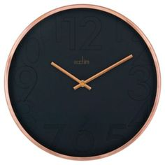 Gorgeous Copper and Black Acctim wall clock available as part of @tesco home range.