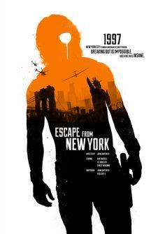 Escape from New York (1981) ~ Minimal Movie Poster by Joseph Harrold #amusementphile