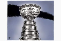 Almost 50 years of believing! - Toronto Star editorial cartoon for May by Theo Moudakis. Hockey Rules, Toronto Star, National Hockey League, Toronto Maple Leafs, Stanley Cup, Ice Hockey, Nhl, Cartoons, Editorial