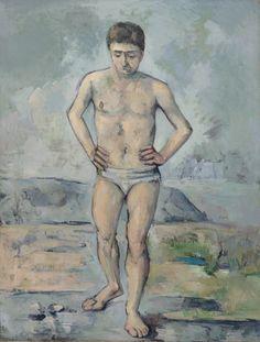 Paul Cézanne. The Bather. c. 1885