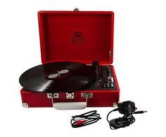 Lecteur de disque GPO PILLARBOX, rouge - L36
