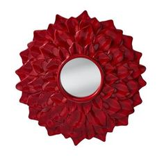 Murray Feiss Ambrosia Mirror in Crimson Lacquer Red Home Decor, Home Decor Lights, Home Decor Outlet, Cooking For Boys, Flower Mirror, White Mirror, Mirror Mirror, Indoor Outdoor Furniture, Storage Mirror