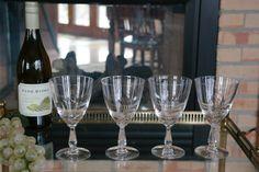 STUNNING Vintage Etched Champagne Cocktail by Antiquevintagefind