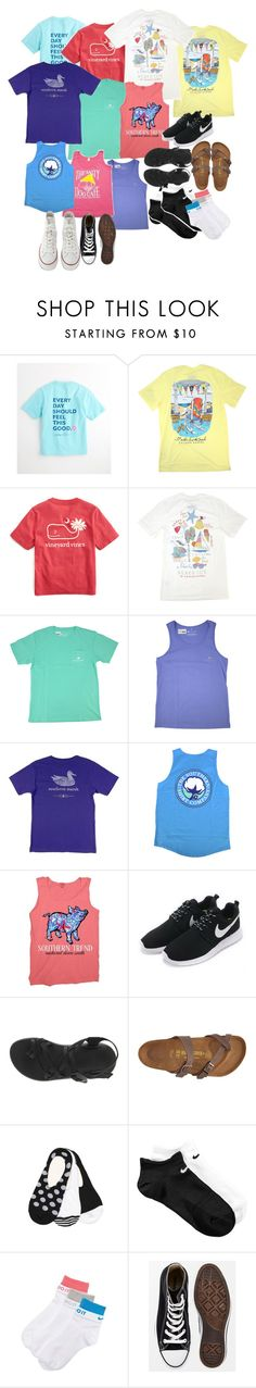 """Band Camp part 1"" by nailsforashleywest on Polyvore featuring Vineyard Vines, NIKE, Chaco, Birkenstock and Converse"