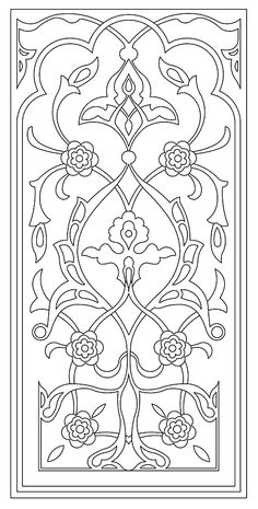 Stencil Patterns, Hand Embroidery Patterns, Stencil Designs, Pattern Art, Stained Glass Patterns, Stained Glass Art, Kirigami, Red Spider Lily, Foto Poster
