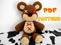 CROCHET-PATTERN: Teddy Bear inspired by Tibbers (League of Legends) Amigurumi ~ **Instructions Only**