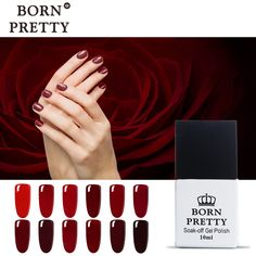 1 Bottle 10ml Born Pretty Nail UV Gel Red Series 12 Colors Nail Art Gel Nail Glue. Yesterday's price: US $2.10 (1.73 EUR). Today's price: US $2.03 (1.68 EUR). Discount: 45%.
