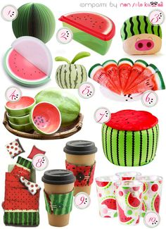 non solo Kawaii - Focus on: Watermelon Anguria Cocomero and Home Watermelon Festival, Watermelon Patch, Watermelon Decor, Watermelon Carving, Watermelon Designs, I Carried A Watermelon, Watermelon Birthday Parties, Knitted Cat, Fish Crafts