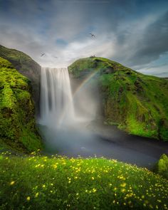 Skogafoss rainbow by Coolbiere. A. on 500px