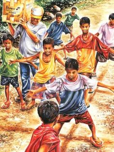 All Traditional Filipino Games(Compilation) - Larong Pinoy Filipino Art, Filipino Culture, Childhood Memories Quotes, Philippine Art, Emotional Photography, Art Village, Unique Trees, Sports Day, Cute Cartoon Wallpapers