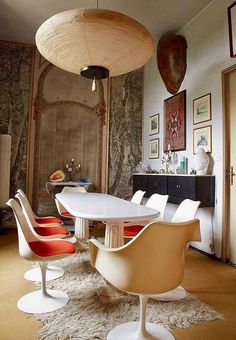 Tour the Homes of 13 Design Icons - Tour the Homes of 13 Design Icons The dining room of Carlo Mollino's apartment. Architecture Restaurant, Interior Architecture, Decoration Inspiration, Interior Inspiration, Appartement Design, Home And Deco, Dining Room Design, Interiores Design, Room Interior
