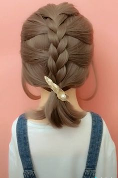 hair videos gray hairstyles over 50 hairstyles elegant hairstyles round chubby faces new hairstyles hairstyles with braids hairstyles with saree hairstyles tutorial Easy Hairstyles For Long Hair, Girl Hairstyles, Hairstyle Ideas, Waitress Hairstyles, Scrunchy Hairstyles, French Plait Hairstyles, Simple Braided Hairstyles, Scarf Hairstyles Short, French Braid Short Hair