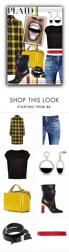 """""""Check It: Plaid"""" by bettyboopbbw69 ❤ liked on Polyvore featuring Miu Miu, Dsquared2, BERRICLE, Mark Cross, Malone Souliers, Salvatore Ferragamo and Marni"""