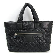 Chanel Bag Cocoon Coco Mm A48611 Women's Black Nylon Tote - Tradesy Handbags On Sale, Black Handbags, Leather Handbags, Burberry, Gucci, Chanel Shoulder Bag, Leather Shoulder Bag, Vintage Louis Vuitton, Black Leather Tote