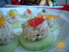 Chicken salad cucumber Appetizer