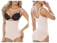 Moldeate 5056 Maximum Control Body Shaper Nude, Adjustable Straps, Panty, Zipper
