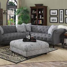 "Sally 102"" Tufted Sectional Sofa"