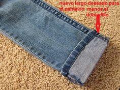 Truco para acortar un pantalón manteniendo el remate original - yo elijo Coser