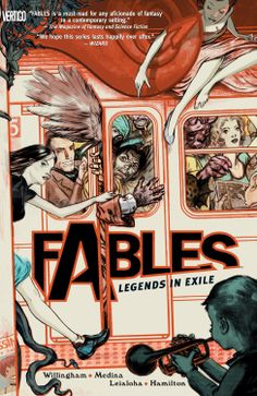 Fables Vol. 1: Legends in Exile  ($9.44) http://www.amazon.com/exec/obidos/ASIN/B0064W667Y/hpb2-20/ASIN/B0064W667Y It was fun trying to pick out the characters from various fairy tales, the art was strong and the writing very good, and the story was fun to follow. - It's definitely a series I recommend to anyone who enjoys both graphic novels and fairy tales. - The story moves along fast enough that it doesn't feel like the exposition that it really is.