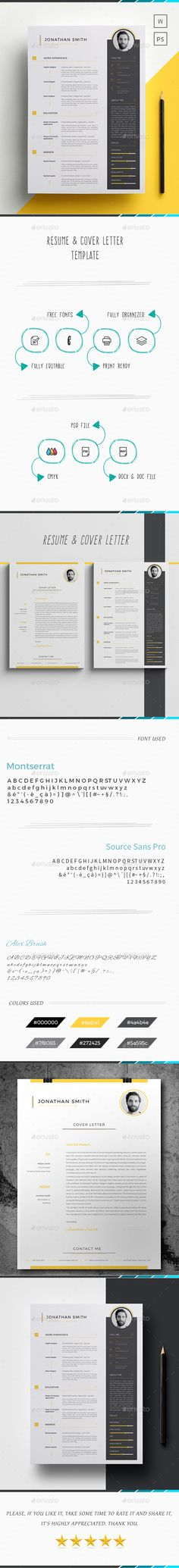 #Resume / Cv - #Resumes Stationery Download here:  https://graphicriver.net/item/resume-cv/19598868?ref=alena994