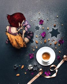 Cinzia Bolognesi: [The coffee ritual II] * * I think Coffee is a sort of medium allowing us to separate for a moment . I Love Coffee, My Coffee, Coffee Photography, Art Photography, Pause Café, Coffee World, Cafe Art, Good Morning Coffee, Tea Art