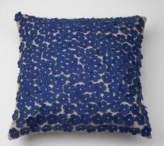 Capa Cornucópias Flores Azul 40 x 40 cm   A Loja do Gato Preto   #alojadogatopreto   #shoponline