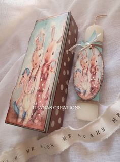 Decoupage, Decorative Boxes, Easter, Candles, Handmade, Gatos, Hand Made, Easter Activities, Craft